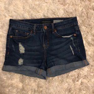 Aeropostale Midi Jean Shorts Size 0